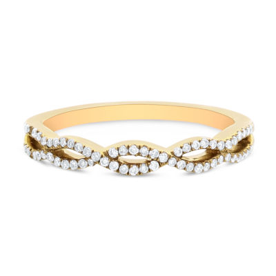 Womens 1/5 CT. T.W. White Diamond 14K Gold Band