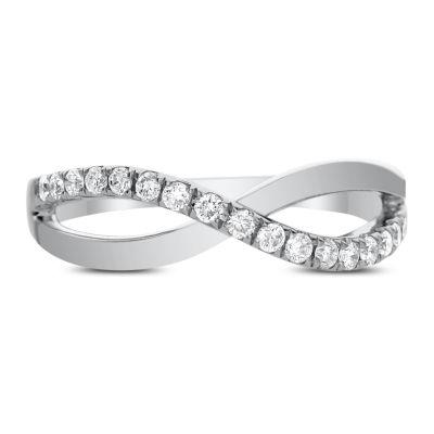 Womens 1/4 CT. T.W. White Diamond 14K White Gold Band