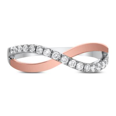 Womens 1/4 CT. T.W. White Diamond 14K Rose Gold Band