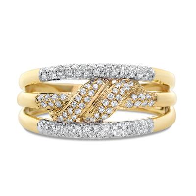 Womens 3mm 3/8 CT. T.W. White Diamond 14K Gold Band