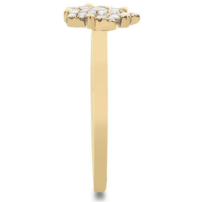 Womens 1/4 CT. T.W. White Diamond 14K Gold Cluster Ring