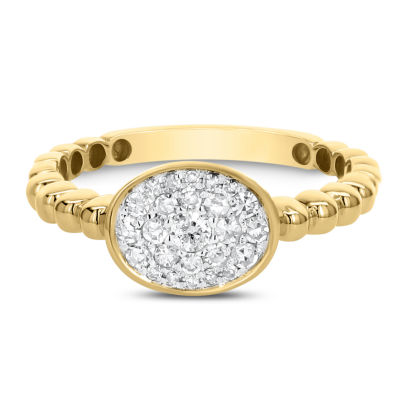 Womens 1/3 CT. T.W. White Diamond 14K Gold Cluster Ring