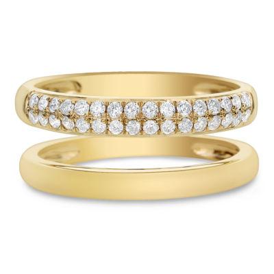 Womens 7.5mm 1/3 CT. T.W. White Diamond 14K Gold Band