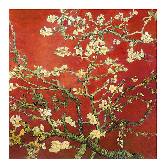 Red Blossoming Almond Tree