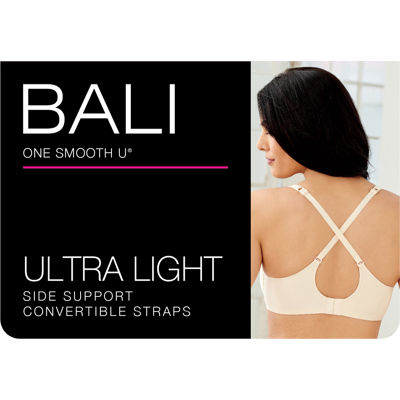 Bali One Smooth U® Ultra Light Illusion Neckline Underwire T-Shirt Full Coverage Bra-3439