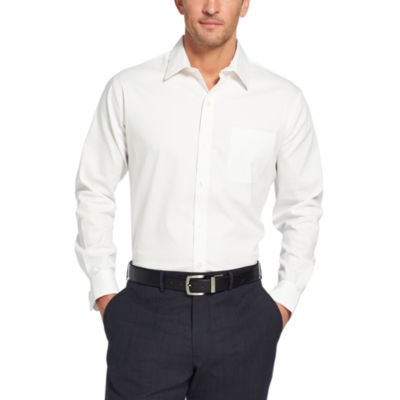 Van Heusen Mens Long Sleeve Button-Front Shirt Slim