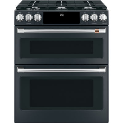 "Café™ 30"" Slide-In Front Control Dual-Fuel Double Oven with Convection Range"