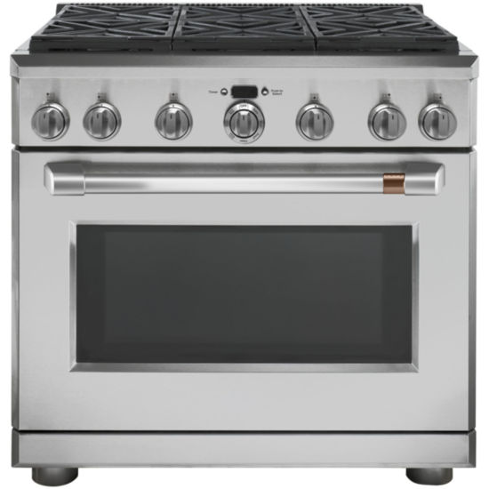 "Café™ 36"" Dual Fuel Professional Range with 6 Burners (Natural Gas)"