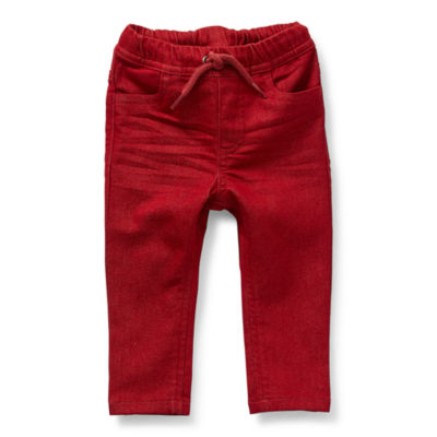 Okie Dokie Baby Boys Straight Pull-On Pants