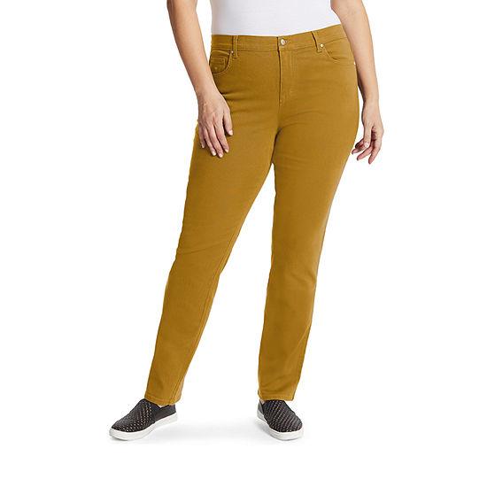 Gloria Vanderbilt Womens High Rise Straight Leg Jean