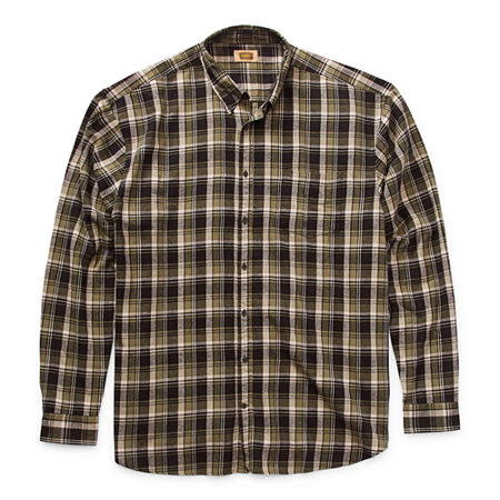 The Foundry Big & Tall Supply Co. Mens Long Sleeve Flannel Shirt, X-large Tall , Green