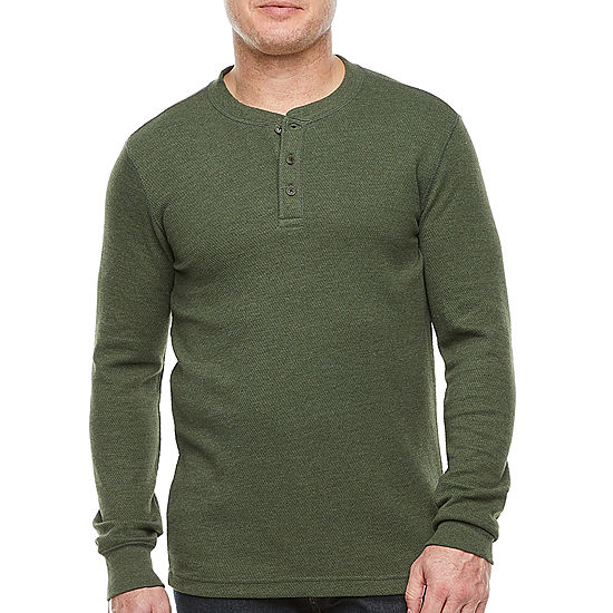 St. John's Bay: Mens Henley Neck Long Sleeve Thermal Top! .99 (REG .00) with code GOSHOP32 at JCPenney!