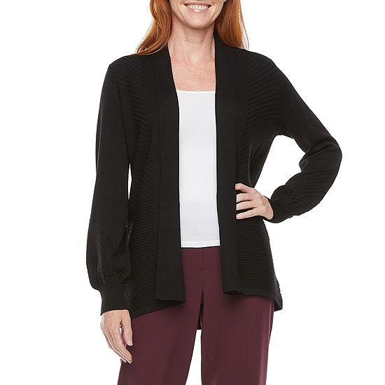 Liz Claiborne Womens Long Sleeve Open Front Cardigan