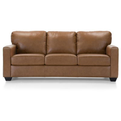 Leather Possibilities Track-Arm Queen Sleeper Sofa
