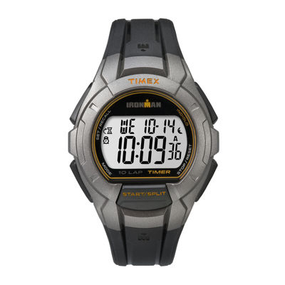 Timex® Ironman Mens Gray Resin Strap 10-Lap Sport Watch TW5K93700