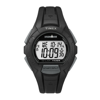 Timex® Ironman Mens Black Resin Strap 10-Lap Sport Watch TW5K94000