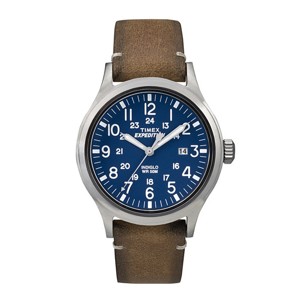Timex® Expedition® Mens Tan Leather Strap Watch TW4B01800