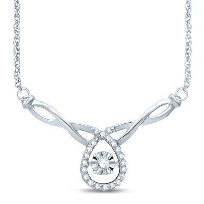 Love in Motion™ 1/7 CT. T.W. Diamond Sterling Silver Necklace