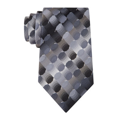 Van Heusen® Optical Geo Silk Tie - Extra Long