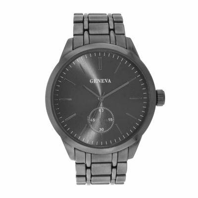 Geneva Mens Gunmetal Bracelet Watch