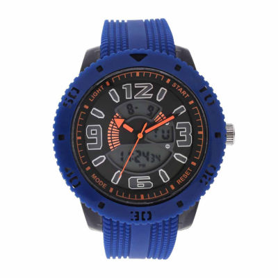 Geneva Mens Blue Strap Watch