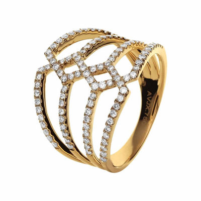 LIMITED QUANTITIES! Womens 3/4 CT. T.W. White Diamond 14K Gold Cocktail Ring