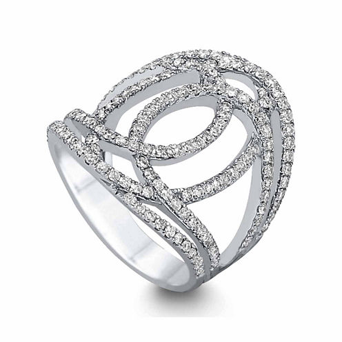 LIMITED QUANTITIES! Womens 1 CT. T.W. White Diamond 14K Gold Cocktail Ring