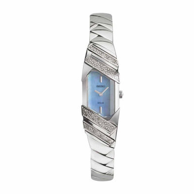 Seiko Mens Silver Tone Bracelet Watch-Sup331