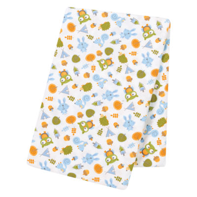 Trend Lab Animal Tepee Jumbo Flannel  Swaddle Blanket