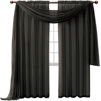 Infinity Sheer Rod-Pocket Curtain Panel