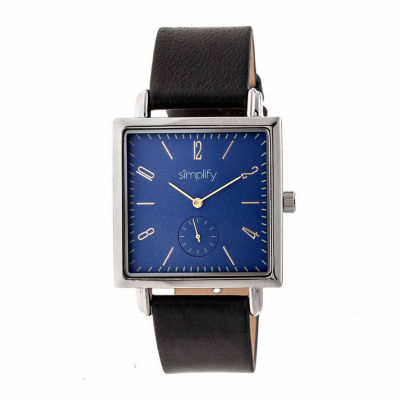 Simplify Blue Dial Mens Black Strap Watch-Sim5002