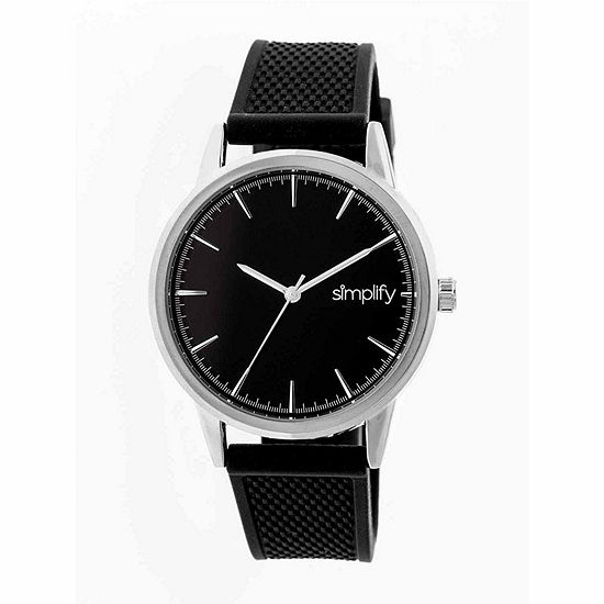 Simplify Mens Black Strap Watch-Sim5202