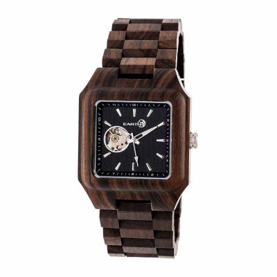 Earth Wood Black Rock Unisex Brown Bracelet Watch-Ethew4402