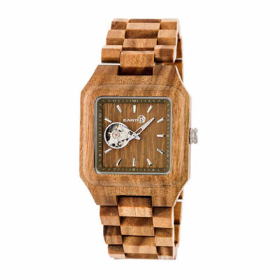 Earth Wood Black Rock Unisex Green Bracelet Watch-Ethew4404