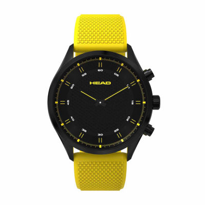 Head Advantage Mens Yellow Strap Watch-He-002-05