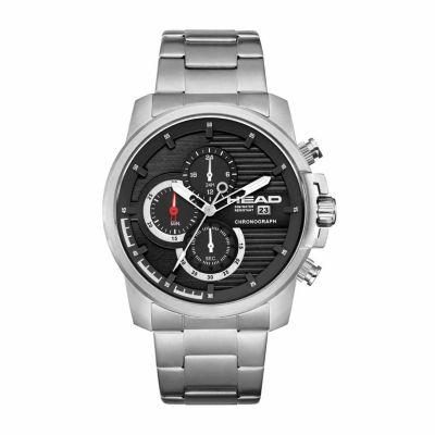 Head Topspin Mens Silver Tone Bracelet Watch-He-003-01