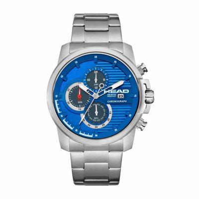 Head Topspin Mens Silver Tone Bracelet Watch-He-003-03