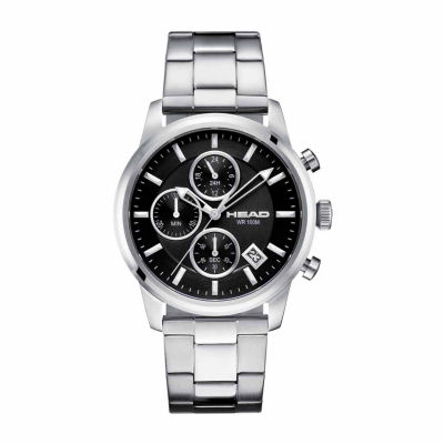 Head Match Point Mens Silver Tone Bracelet Watch-He-004-01