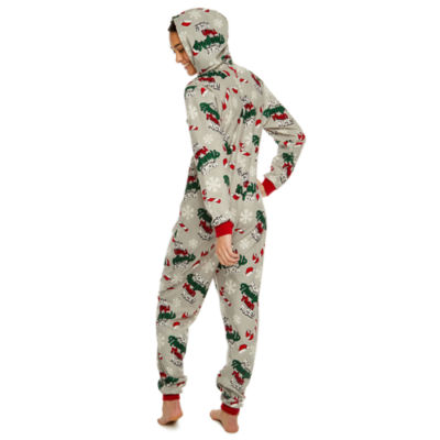 Onesie More Naughty Than Nice Print Family Pajamas-Women's
