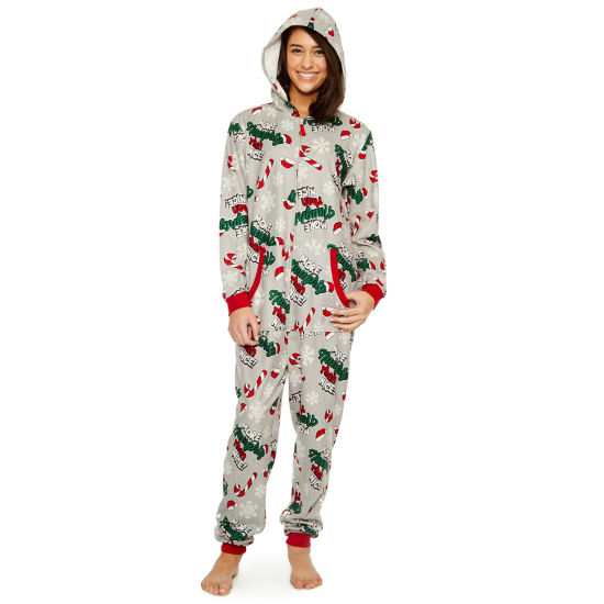 Fleece Onesies® One Piece Pajama More Naughty Than Nice Print-Women's