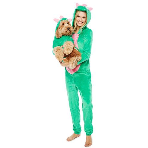 Green Dinosaur Pet One Piece Pajama