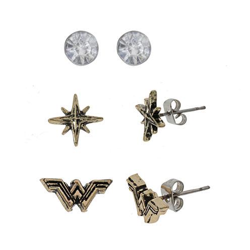 Wonder Woman 3 Pair Earring Set