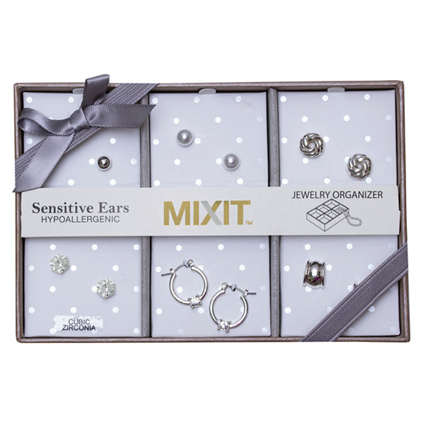 Sensitive Ears 6 Pair Brass Earring Sets