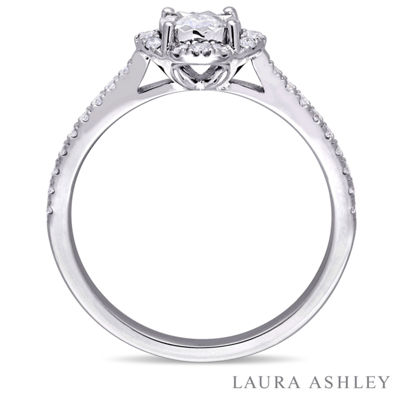 Laura Asley Womens 3/8 CT. T.W. Genuine White Diamond Sterling Silver Engagement Ring