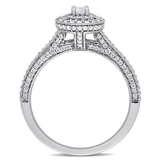 Womens 5/8 CT. T.W. Genuine White Diamond 14K Gold Engagement Ring