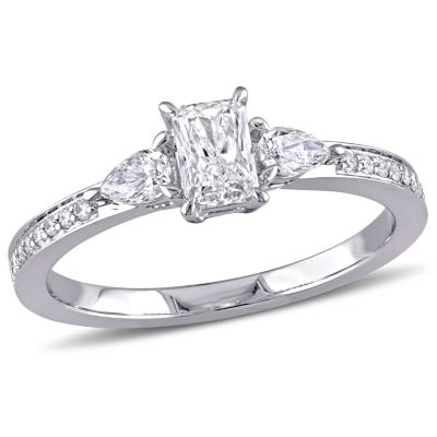 Womens 5/8 CT. T.W. Genuine White Diamond 14K Gold Engagement Ring