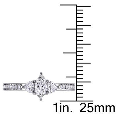 Womens 5/8 CT. T.W. Marquise White Diamond 14K Gold Engagement Ring