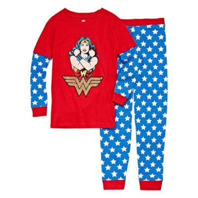 2-pc. Wonder Woman Pant Pajama Set Girls
