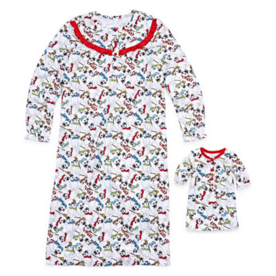 Dollie And Me Intimo Long Sleeve Nightgown-Big Kid Girls