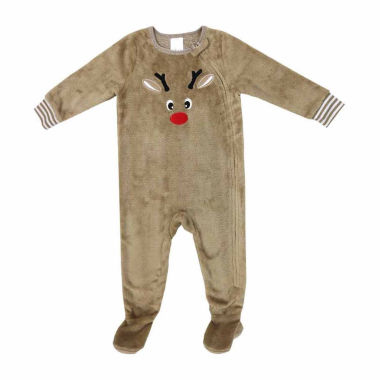 North Pole Trading Co. Reindeer One Piece Pajamas-Baby